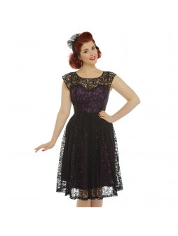blair purple and black lace evening dress p3346 19129 zoom