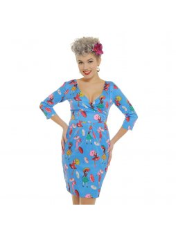 kailin retro girl print wiggle dress p3377 19275 zoom