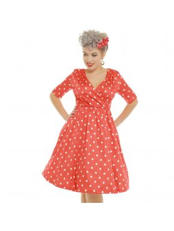 dahlia red polka dot wrap front swing dress p3410 19638 zoom