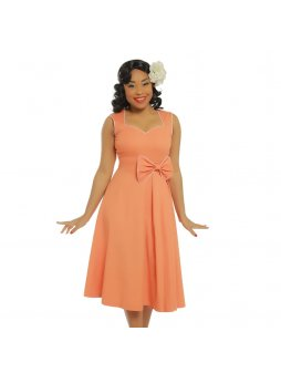 grace peach bow detail swing dress p3416 19674 zoom