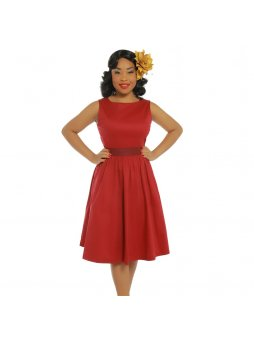 audrey dark red swing dress p3433 19781 zoom