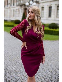 Dámské šaty Andalusie vínové