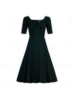 dolores doll half sleeve brocade dress p6776 177354 image