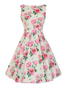 Dámské retro šaty Lady Vintage Tea Romantik Floral