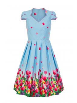 4791 angelique 50s dress blue im 1