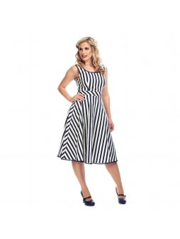 lucille striped swing dress p7608 221096 image