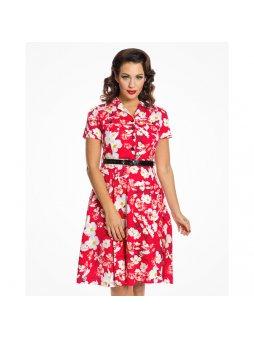 67c900c4f Dámské retro šaty Audrey Kvetoucí louka. 1 290 Kč. Detail · lilith red  dogwood3