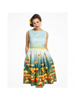 audrey teal flowers6945