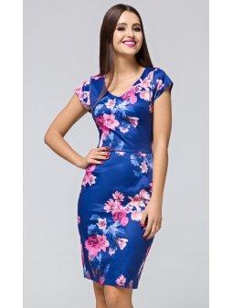 Dámské pouzdrové šaty Step modré