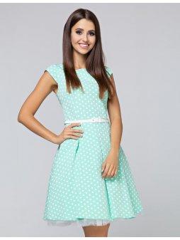 Dámské šaty Polka malý puntík mentolové