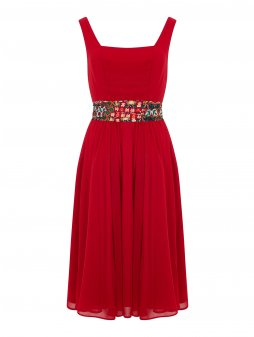 Dámské retro šaty Bright červené