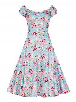 Dámské retro šaty Dolores pivoňky