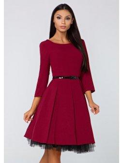 Dámské šaty Podzim vínové