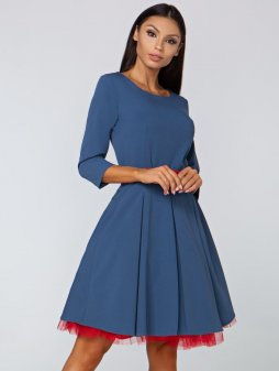 Dámské šaty Podzim džínová modř