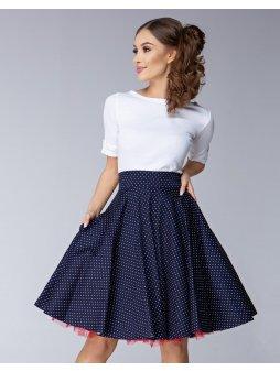 Dámská sukně Twist modrá malý puntík