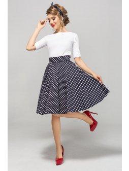 Dámská sukně Twist modrá velký puntík