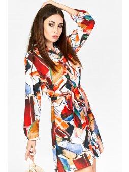 wzorzysta sukienka multicolour 8785 (3)