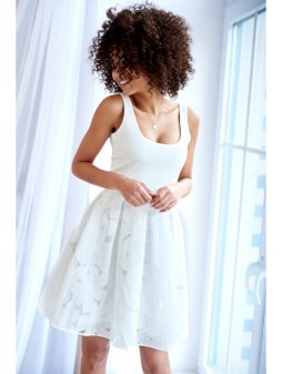 dress with an embroidered skirt (2)