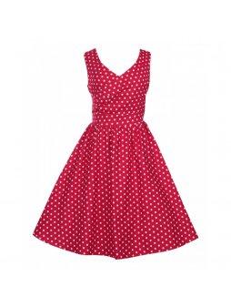 Retro šaty May červené s puntíky