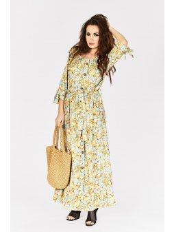 dluga sukienka w kwiaty 8135 (1)