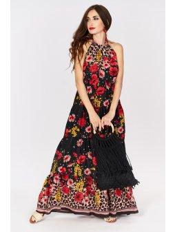 sukienka maxi w kwiaty z odkrytymi ramionami (1)