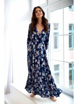 sukienka z kola maxi navy flowers (1)
