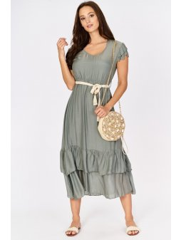 sukienka maxi z jedwabiem