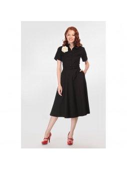 Dámské retro šaty Caterina černé