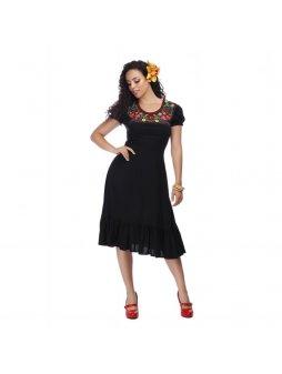 Dámské šaty Raelyn černé s květinami