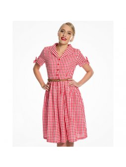 claudine red gingham7552