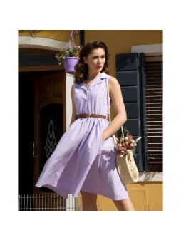 matilda light lilac chambray