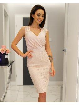 Dámské šaty Lara pudrově růžové