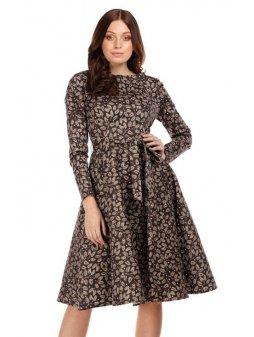 Dámské retro šaty Arwen podzimní lístky