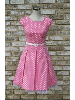 Dámské šaty Polka malý puntík růžové