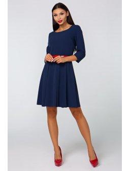 Dámské šaty Podzim tmavě modré