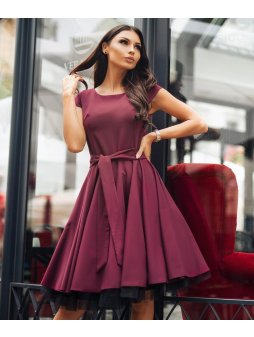 Dámské šaty Radost vínové