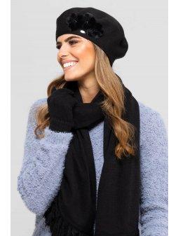 KAMEA ALASKA beret damski czarny