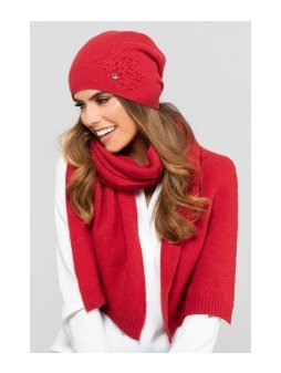 JAEN czapka damska czerwona