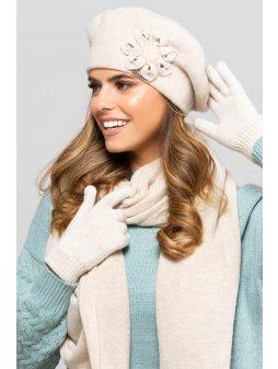 KAMEA SEWILLA beret damski bezowy