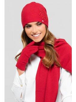 KAMEA MALAGA czapka damska czerwona