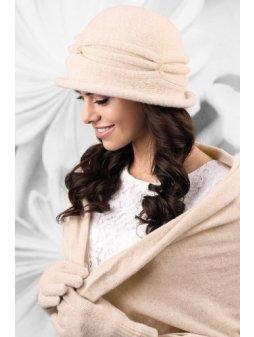 KAMEA VERONA kapelusz damski jasnobezowy