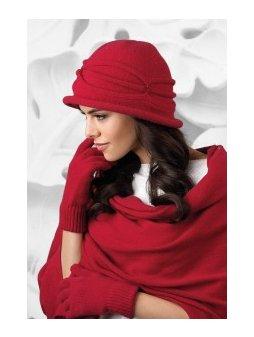 KAMEA VERONA kapelusz damski czerwony