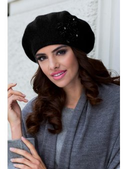 ETNA beret damski czarny