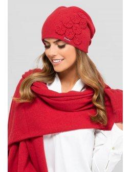 KAMEA BURGOS czapka damska czerwona