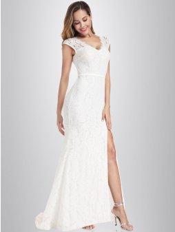 Společenské šaty Mořská pěna bílé