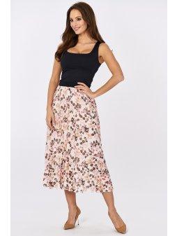 plisowana spodnica midi w kwiaty