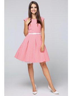 Dámské šaty Polka malý puntík meruňkové