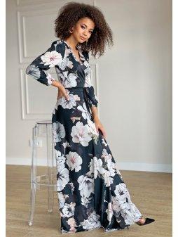 kopertowa sukienka maxi black flower (3)