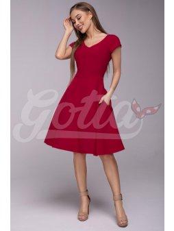 Dámské šaty Flamenco vínové