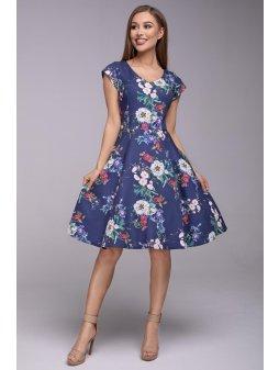 Dámské šaty Flamenco Modré jaro